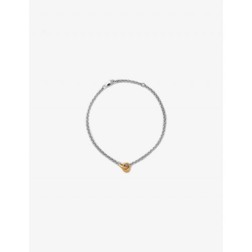 Link Up 14ct recycled yellow gold-plated vermeil and sterling-silver chain bracelet